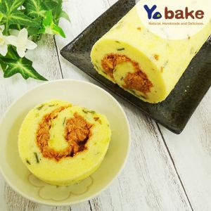 Pork Floss & Spring Onion Swiss Roll
