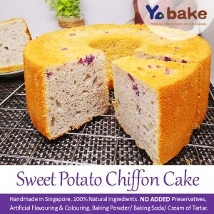 Sweet Potato Chiffon Cake 紫薯戚风蛋糕-6 inch